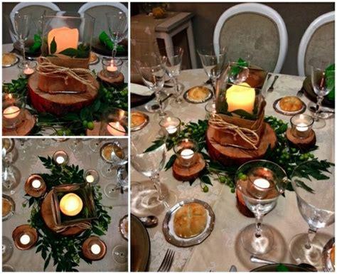 Weihnachtliche Tischdeko Holz by Tischdeko Mit Holz Gem 252 Tliche Atmosph 228 Re Zum Feiern