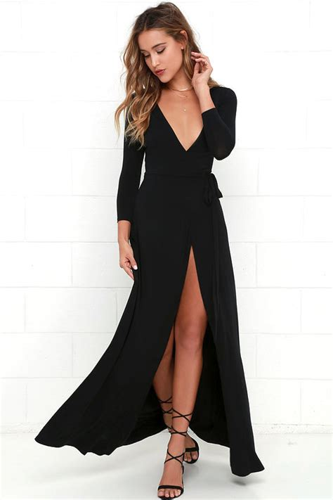 lovely black maxi dress wrap dress wrap maxi dress