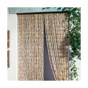 Rideaux De Porte Exterieur : morel rideau de porte malaga torsades de ma s 100x220 cm naturel pas cher achat vente ~ Dode.kayakingforconservation.com Idées de Décoration