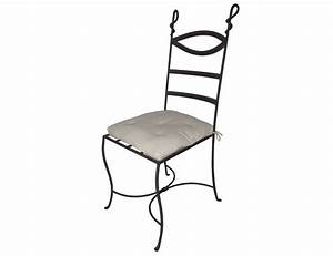 Chaise En Fer Forgé : la m tallerie chaise en fer forg avec coussin ~ Dode.kayakingforconservation.com Idées de Décoration