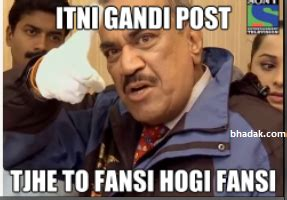 Acp Pradyuman Meme - what are some of the best cid daya and acp memes sony entertainment television tv channel