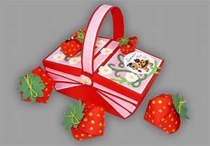 Basteln Mit Papier Anleitung : erdbeeren aus papier basteln fr chte aus dem picknickkorb anleitung ~ Frokenaadalensverden.com Haus und Dekorationen