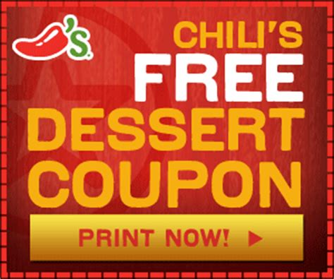 31753 Free Dessert Coupon Chilis by Free Chili S Dessert Coupon For Savings