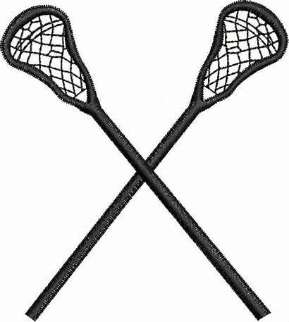 Lacrosse Stick Sticks Clipart Crossed Clip Wikiclipart