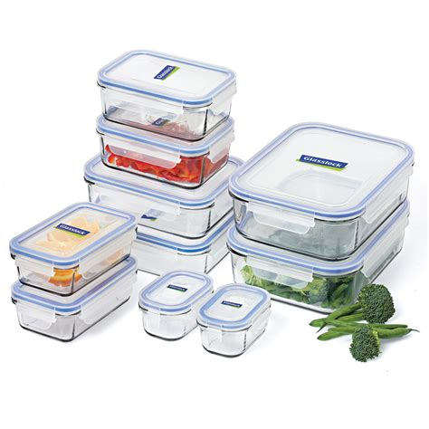 container cuisine glasslock tempered glass food container set 10pce