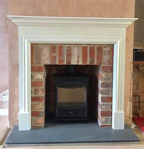 Fdc5w, Multifuel, Stove, Brick, Slip, Tiled, Opening, White, Fire, Surround, And, Antiqued, Granite