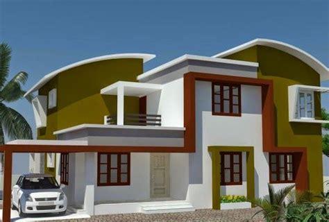 desain rumah modern minimalis atap lengkung desain rumah