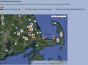 Cranberry Bog Cape Cod Massachusetts Map