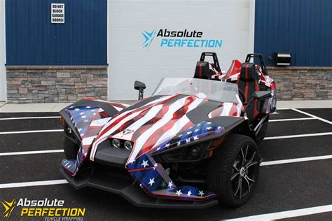 polaris slingshot american flag wrap ap vehicle wrapping