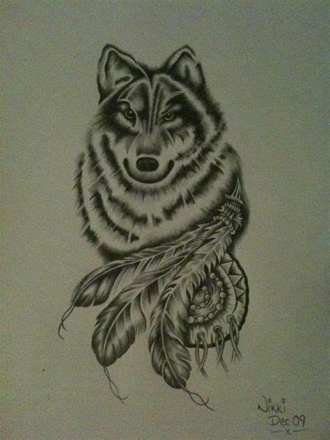 wolf drawing  nikkimagennis  cool collection art
