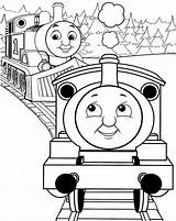 Train Coloring Pages Cartoon Thomas Printable Print Getcolorings sketch template