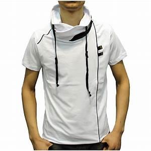 T Shirt Homme Blanc : t shirt homme col montant blanc ~ Melissatoandfro.com Idées de Décoration
