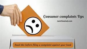 Consumer Complaints Tips