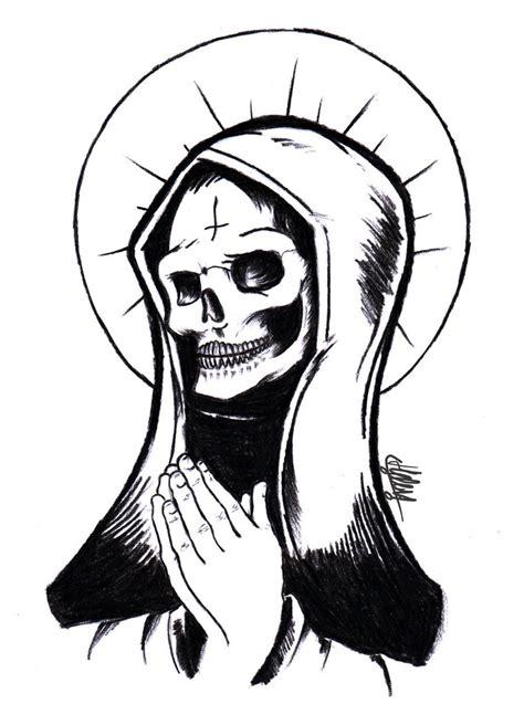 Santa Muerte Pencil Drawings La