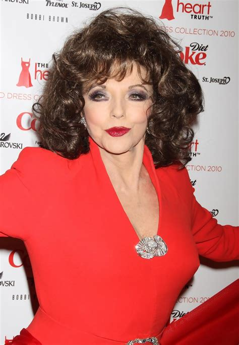 joan collins   heart truth red dress fashion