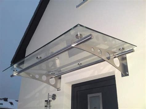 vordach glas edelstahl edelstahlvordach glasvordach vord 228 cher vordach g 252 ns