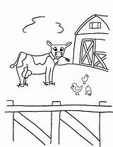 Coloring Animals Farm Printable Animal Cow Crayon Action Bestcoloringpagesforkids Toddlers Colouring Sheets Adult Popular sketch template