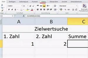 Standardabweichung Excel Berechnen : video zielwertsuche unter excel 2010 nutzen so funktioniert 39 s ~ Themetempest.com Abrechnung