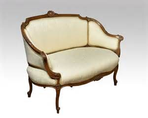 Two Seater Settee walnut framed two seater settee antiques atlas