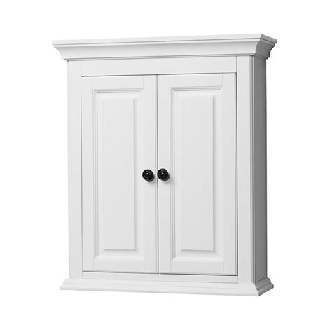 White Bathroom Wall Cabinet by Foremost 24 Quot Corsicana Bathroom Wall Cabinet White