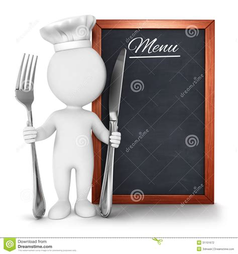white people chef  menu stock photography image