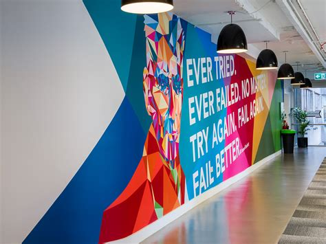 wall graphic design wayfinding linkedin offices dublin