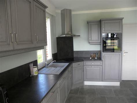 peinture r駭ovation cuisine revger com cuisine peinte en gris fonce idée inspirante pour la conception de la maison
