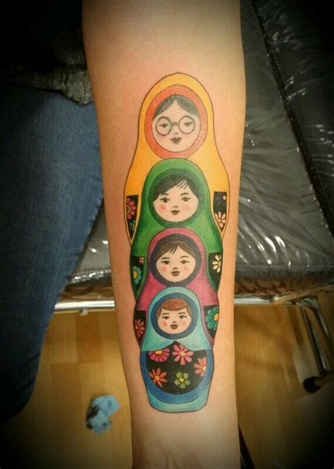 cool matryoshka tattoos