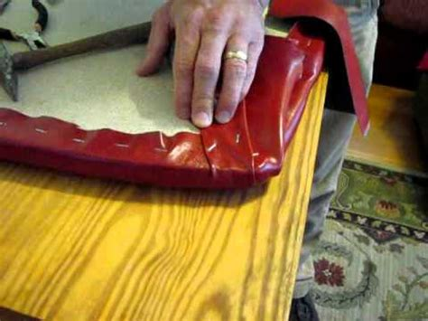 How To Do Upholstery Corners by How To Upholster A Chair Seat Part 3 Stapling Corners