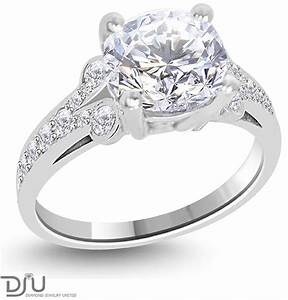 207 carat e vs2 round solitaire diamond engagement ring With 2 karat wedding ring