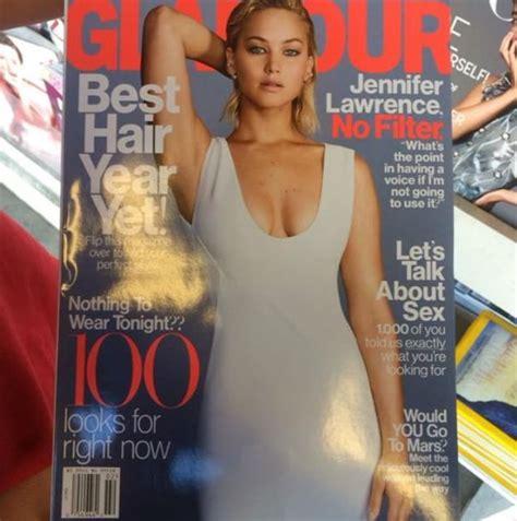Jennifer Lawrence Covers Glamour Magazine Beautifulballad
