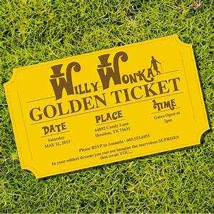 25 best ideas about golden ticket on pinterest new eve With willy wonka invitations templates