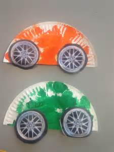 Paper Plate Car Crafts for Toddlers