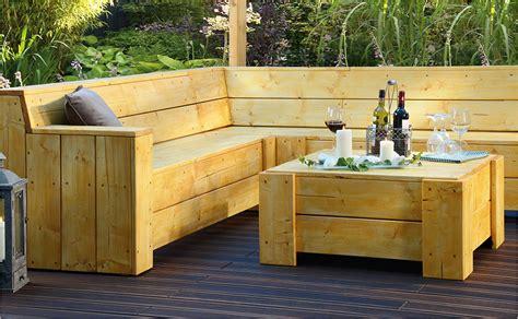 Holztisch Zur Gartenlounge Selber Bauen