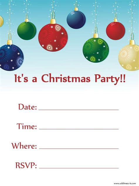 christmas party invitation free download christmas party