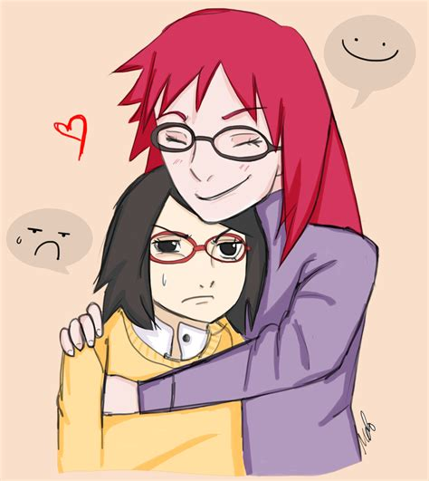 Karin And Sarada By Xlilmelo On Deviantart