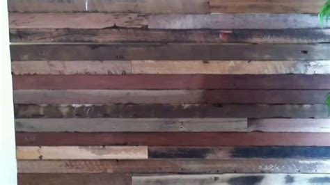 recycled wood feature wall system youtube