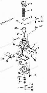 Polaris Snowmobile 1998 Oem Parts Diagram For Carburetor