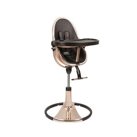 chaise haute fresco bloom high chair fresco chrome gold by bloom