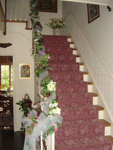 stairs decorations elegant wedding staircase decorations