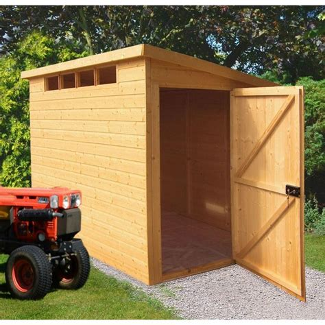 buy homewood security wooden pent shed 10 x 6ft at argos