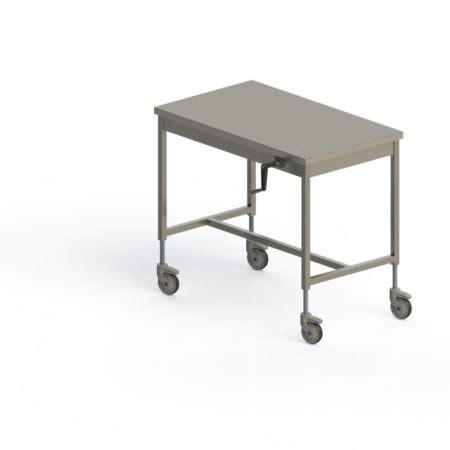 table inox centrale mobile hauteur r 201 glable manuelle pieds carr 201 s sans 201 tag 200 re basse happymanut