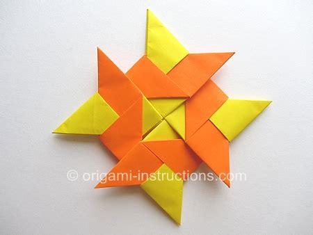 modular origami  pointed ninja star folding instructions
