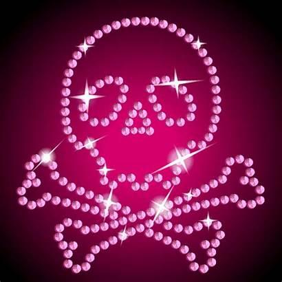 Glitter Pink Graphics Skull Backgrounds Bling Gifs