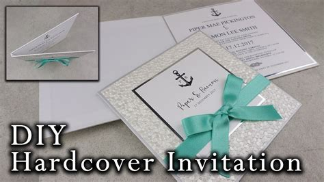 diy nautical hardcover invitation wedding invitations