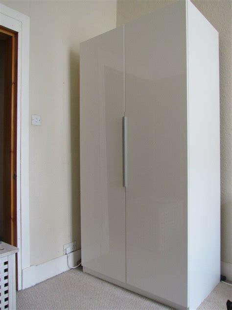 ikea pax wardrobe white high gloss doors  leith walk