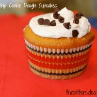 chocolate chip cookie dough cupcakes  bitter side