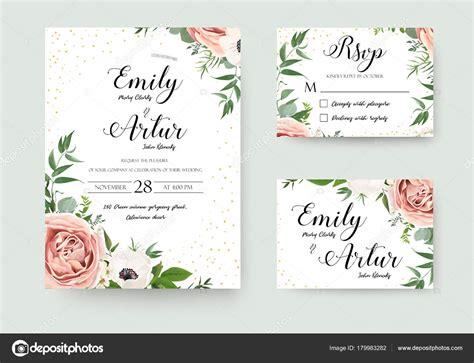 vetor floral convite convite obrigado casamento rsvp