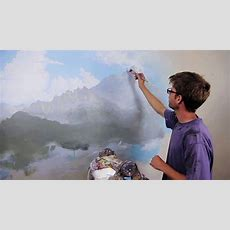 "Clip From ""how To Paint Mountains"" With Mural Joe  Youtube"