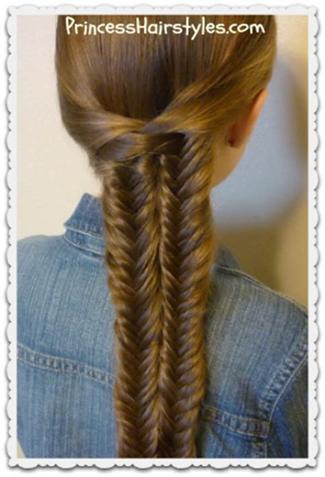 fishtail illusion braid mermaid braid hairstyle